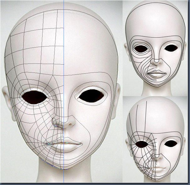 Face to a Blender Edge Loop Modeling Maya modeling