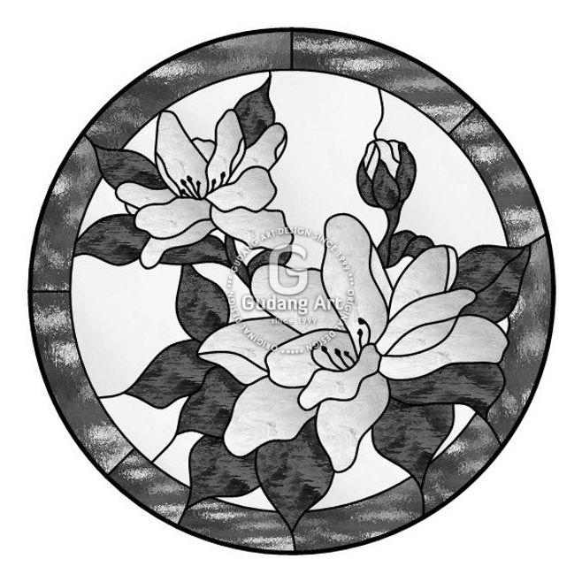 Gambar Desain kaca patri jendela motif bunga - Kerajinan ...