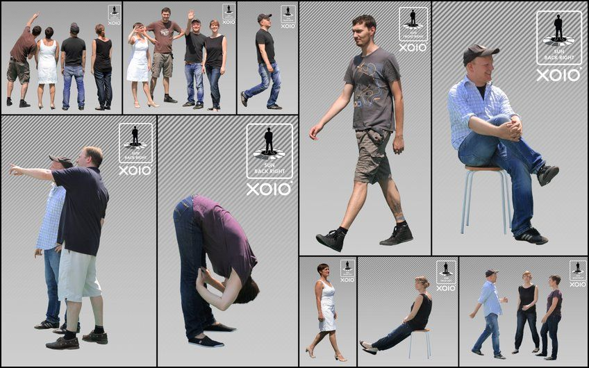 65 more free cutout people by xoio 3d architectural visualization