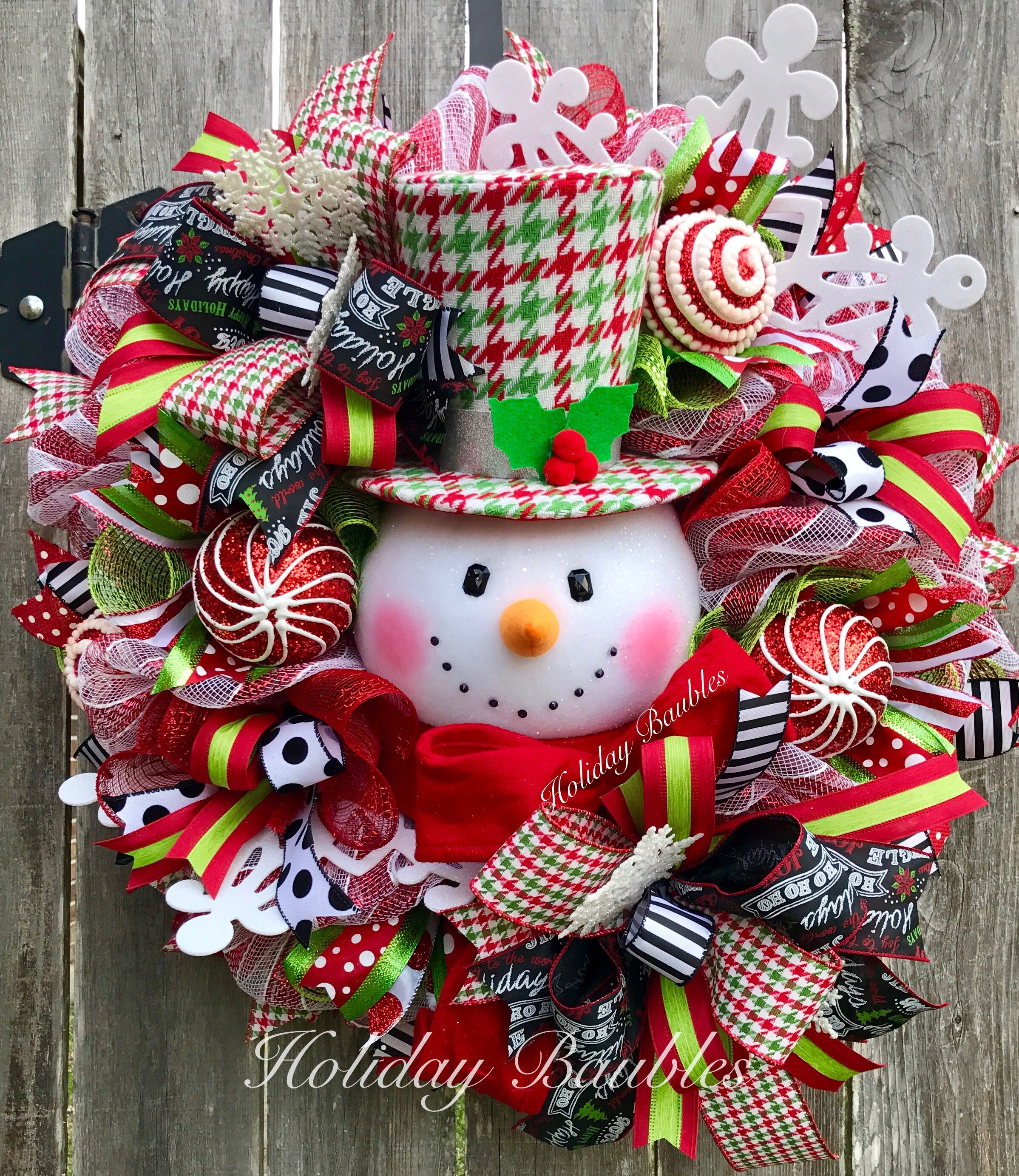 Houndstooth Snowman By Holiday Baubles Part 95