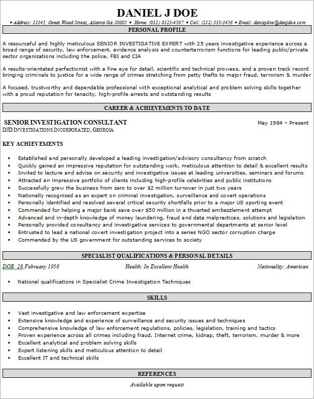 Examples Of Personal Profiles For Resumes Resume Example For Job  Httpwww.resumecareerresumeexample .