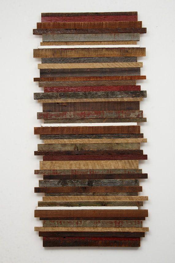 Arte PARED madera reciclada de viejos barnwood, diversos tamaños - pared de madera