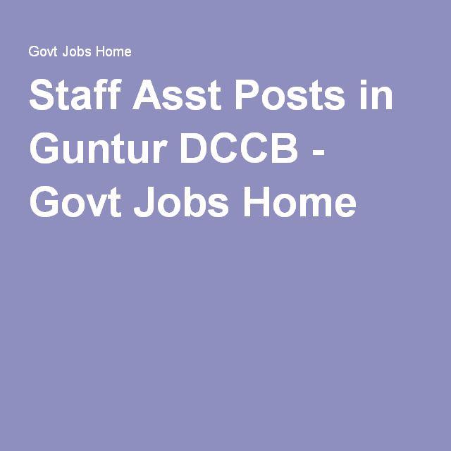 Staff Assistant Posts Bank Jobs Job Guntur