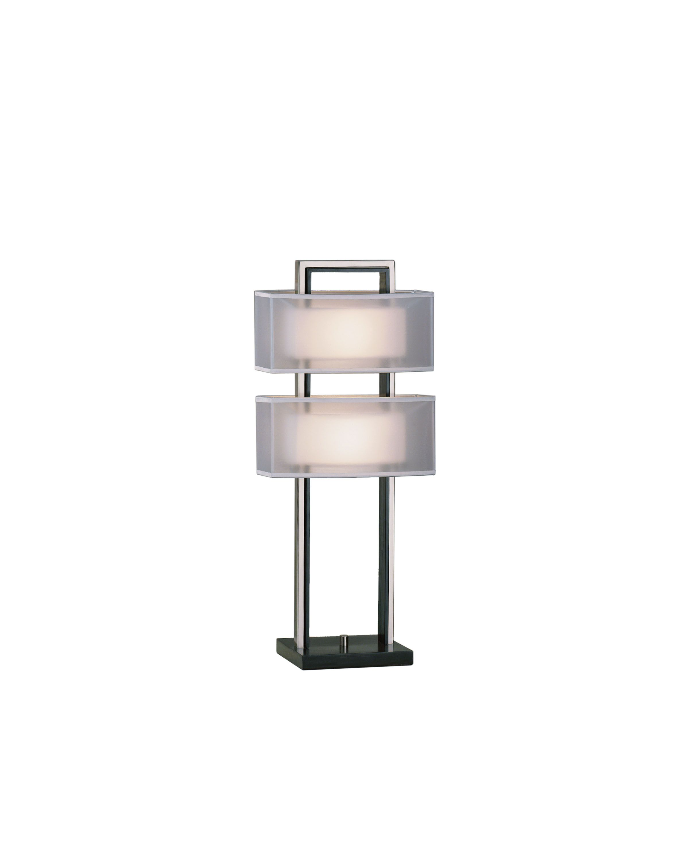 Two Light Table Lamp Nova Lighting Silver Table Lamps Nickel Table Lamps