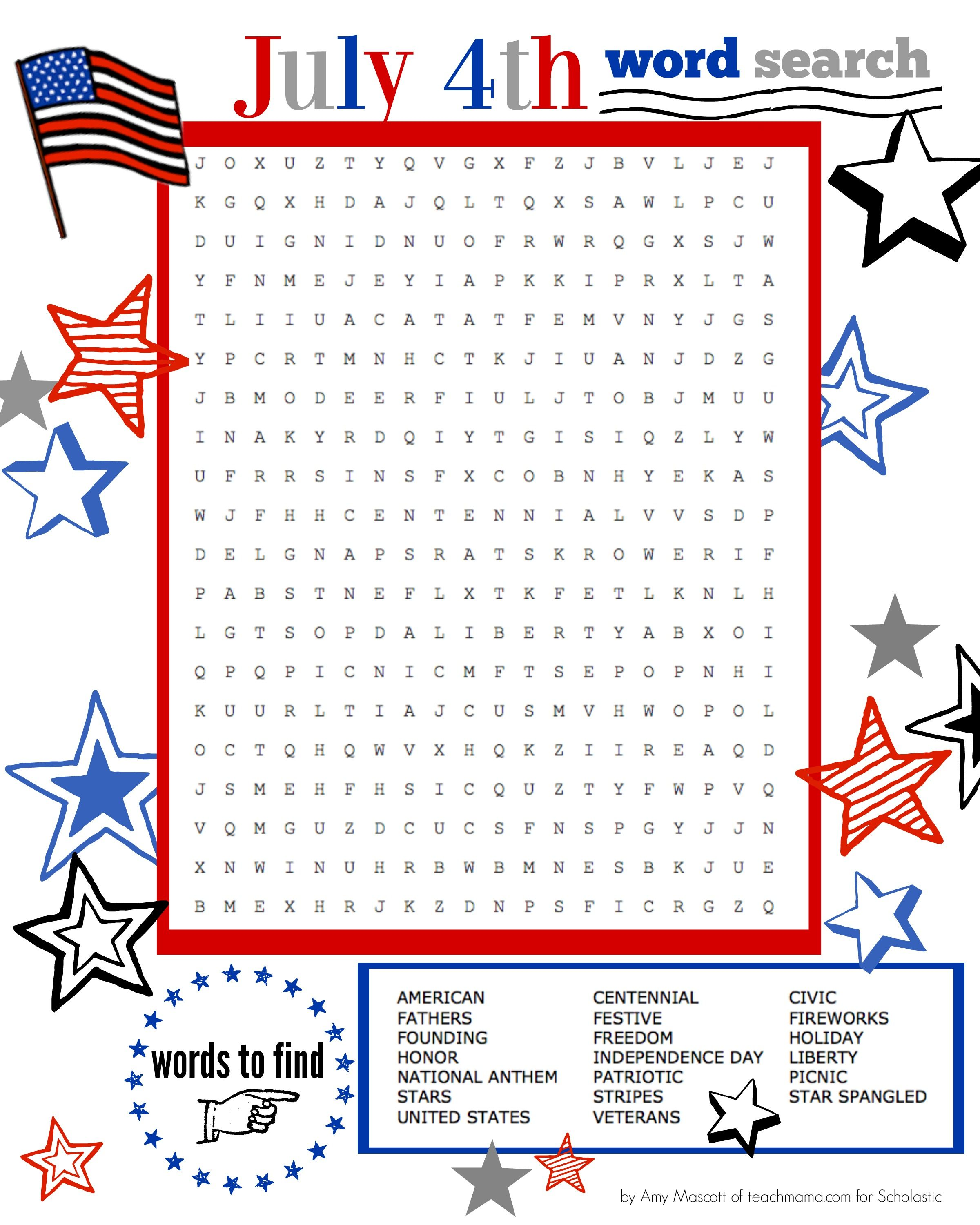 Image Result For Free 4th Of July Activity Printables