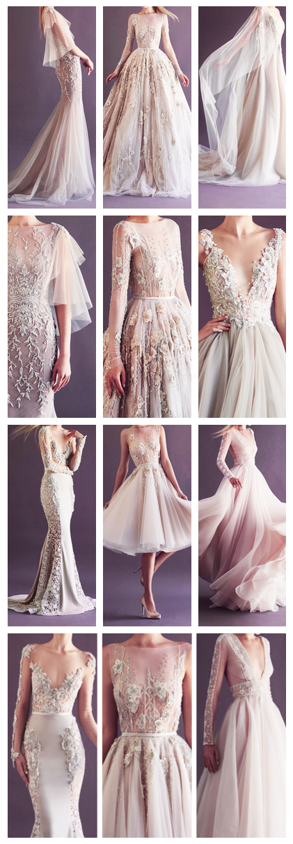 One of my fave wedding dress designers - Paolo sebastian 2014 bridal collection