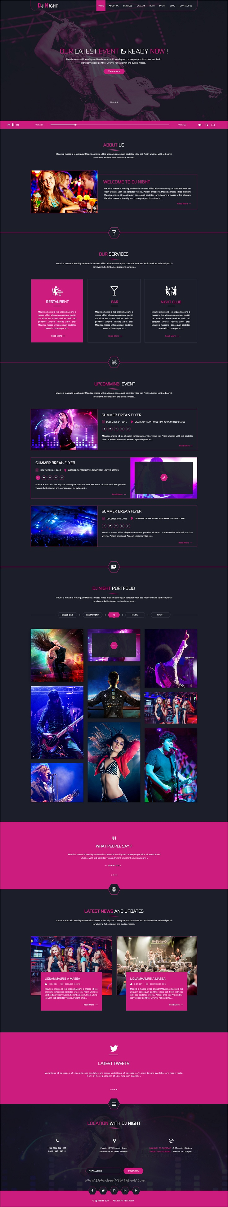 DJ Night - Event, DJ, Party, Music Club HTML Template | Dj party and ...