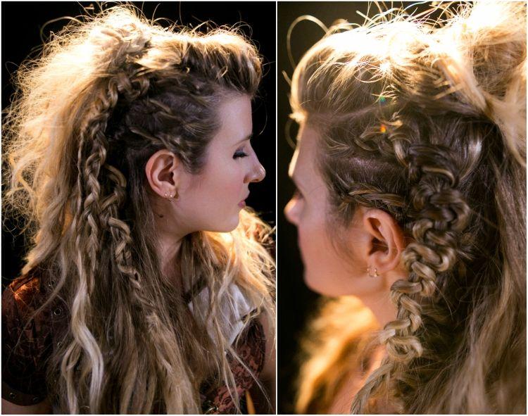 wikinger frisuren frauen zopf flechten lagertha anleitung frisuren hairstyle hair  Haare in