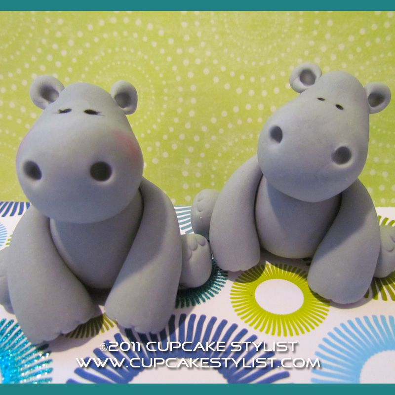 how to make a fondant hippo - Google Search | Polymer clay