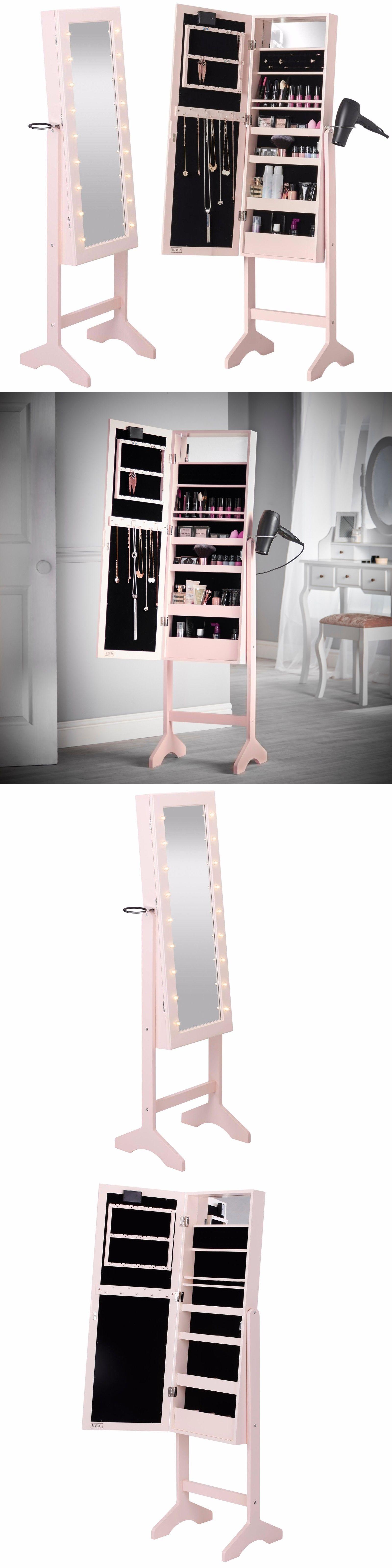 MultiPurpose 168165 Beautify Blush Pink Mirror Jewelry Makeup