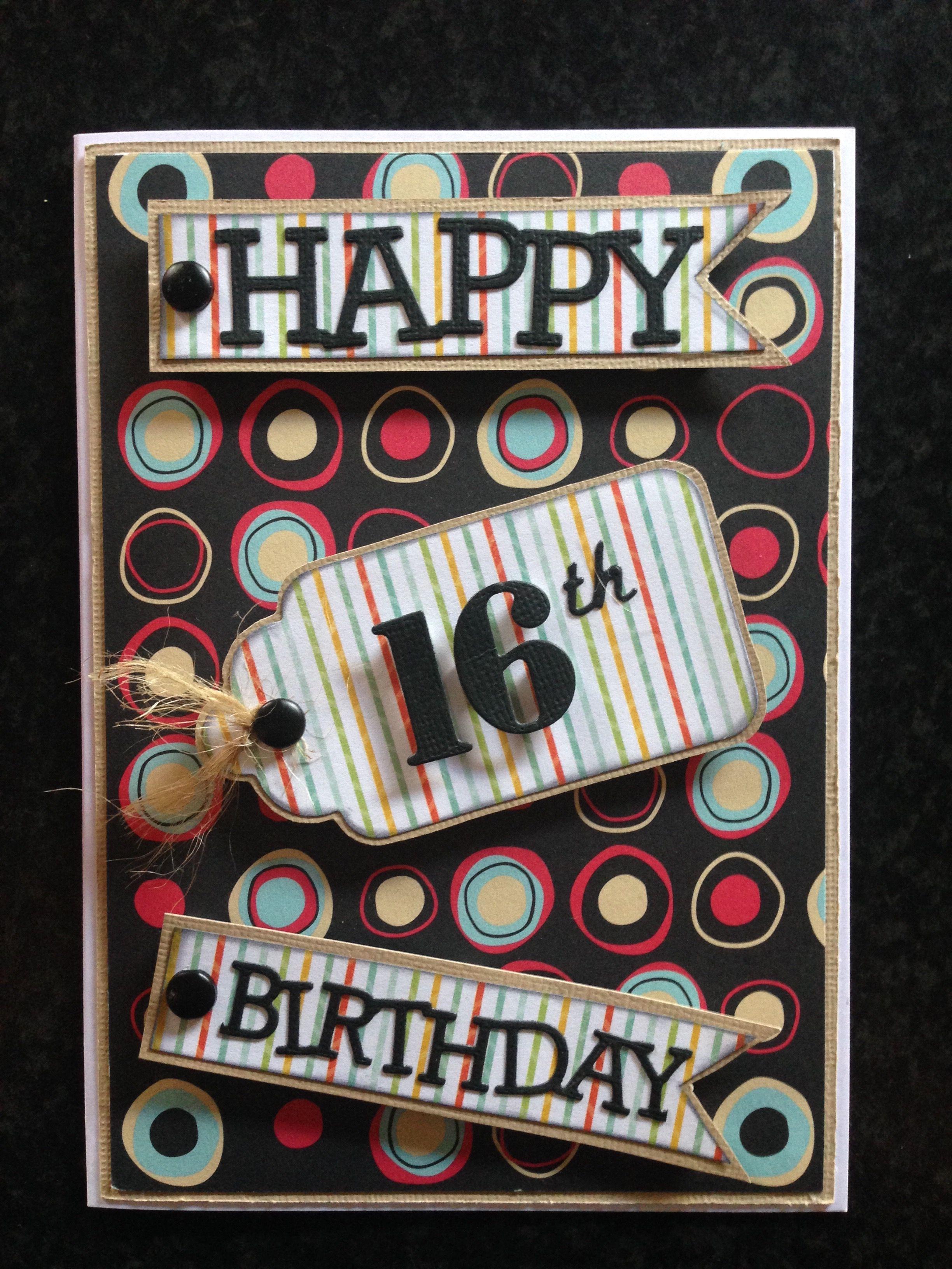 Boys 16th Birthday Card 16th Birthday Card Kids Birthday Cards Boy 16th Birthday