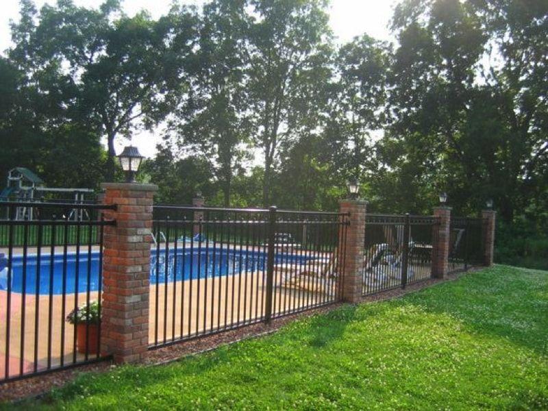 Wrought Iron Fences Aluminum Pool Fence Fence Around Pool