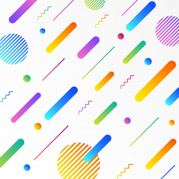 Memphis style background with geometric patterns and shapes Premium Vector #memphisdesign