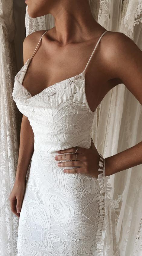 Honig-Rosen-Kleid | Spitze Hochzeitskleid | Grace liebt Spitze – New Ideas