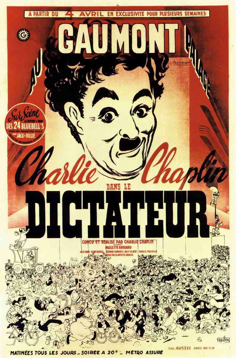 The Great Dictator, 1940 Old film posters, Charlie chaplin