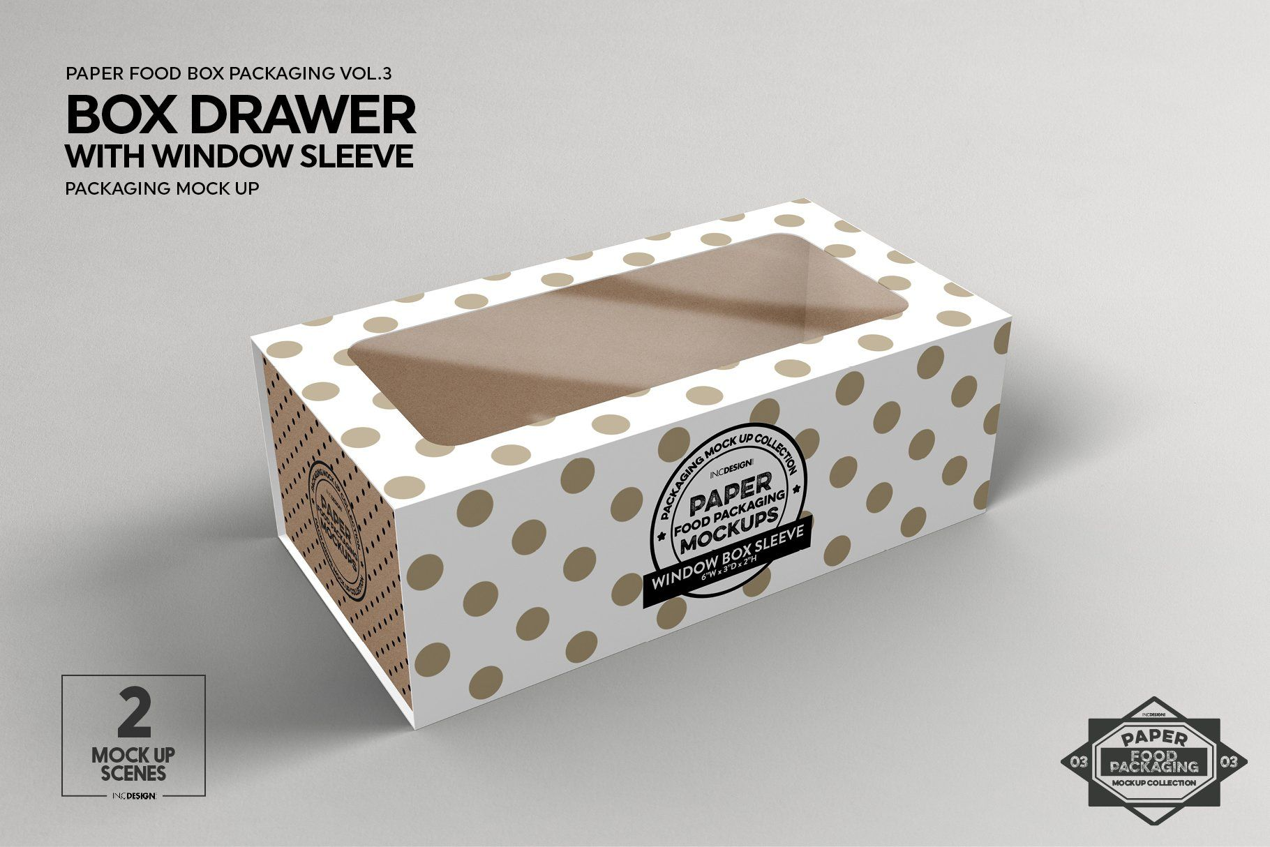 Download Box Window Sleeve Packaging Mockup Food Box Packaging Packaging Mockup Sleeve Packaging