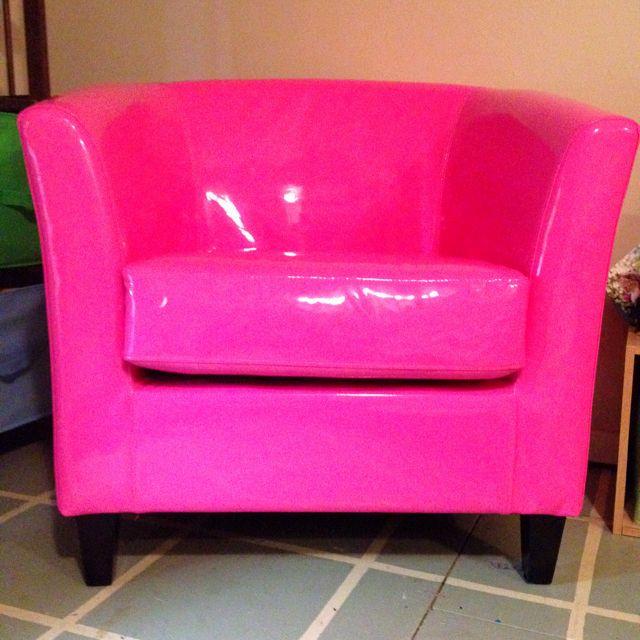 Genial Bubblegum Pink Patent Leather Chair From TJ Maxx!