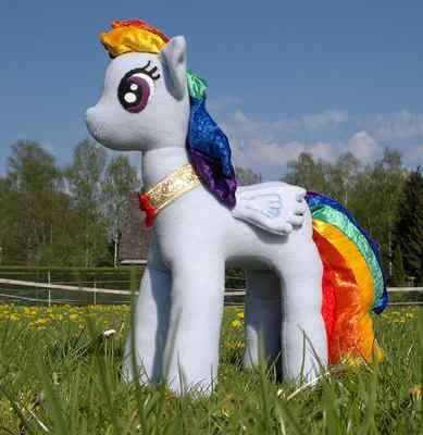 Giant Mlp My Little Pony Talking Plush Rainbow Dash Plushie Element