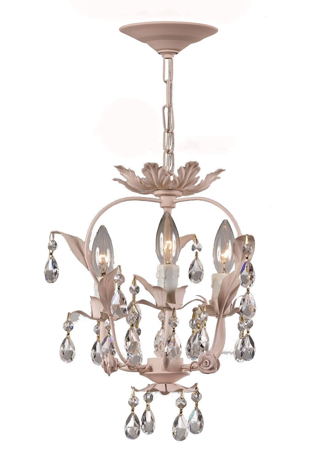 Paris Flea Market Handpainted Wrought Iron Fl Mini Chandelier In Blush Finish S Suggested To Be Mounted Dining Room Entry Foyer Living