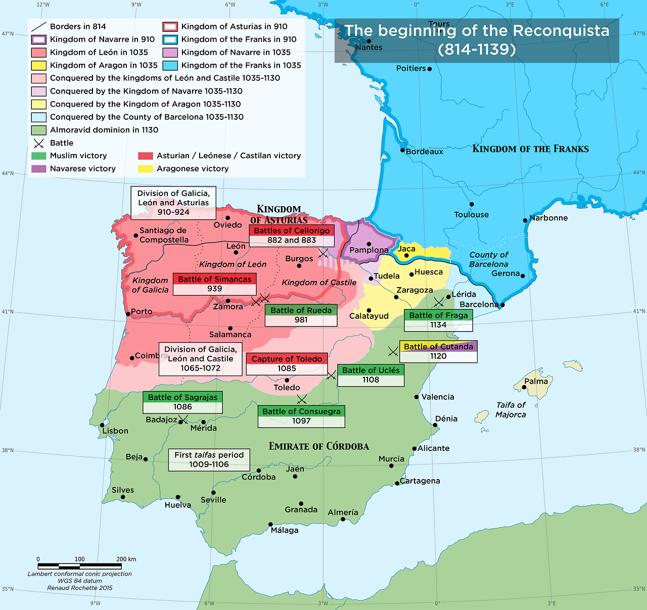 maps on the web the begin of the reconquista 814 1139