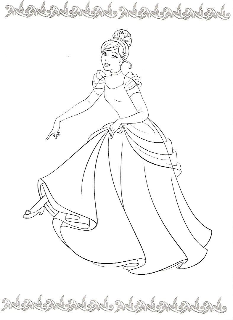 Pin By Denise Bar On Coloring Pages Coloring Pages Cinderella