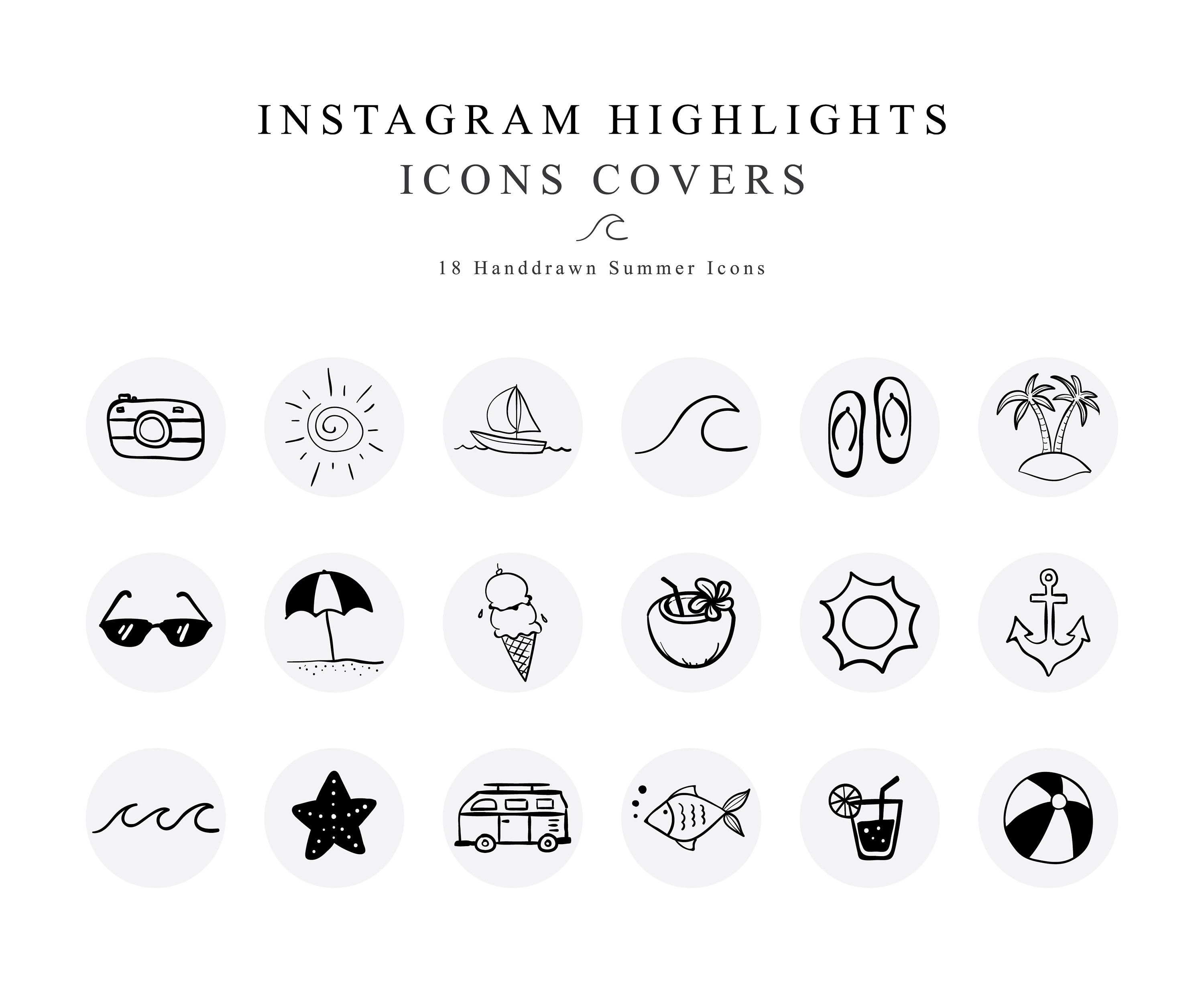 instagram story highlights covers summer vacation icons etsy in 2020 summer instagram instagram story instagram highlight icons instagram story instagram highlight icons