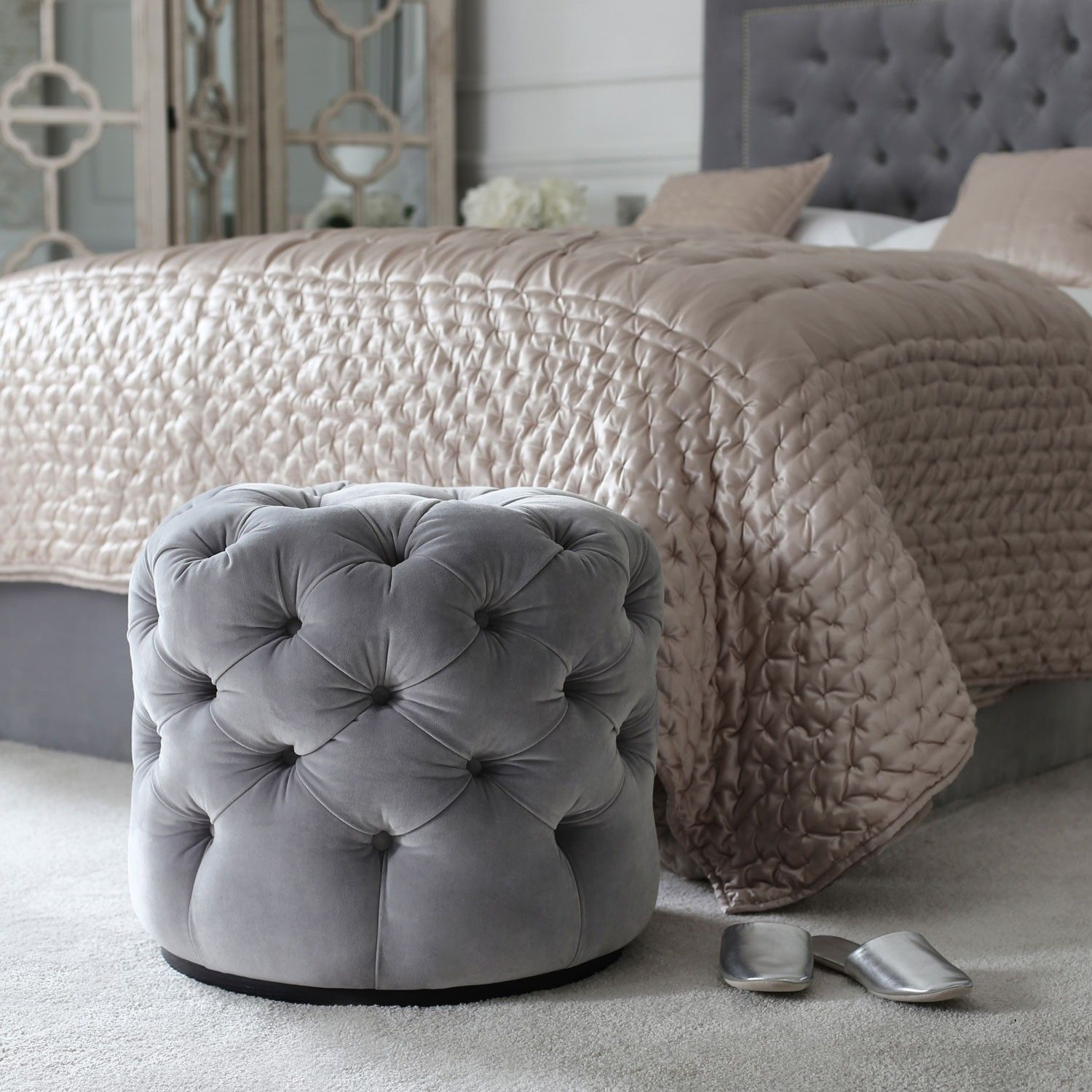 Laurent Pouffe | Stools & Ottomans | Sofas & Seating | Sweetpea ...