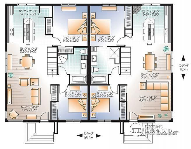 plan appartement jumelé