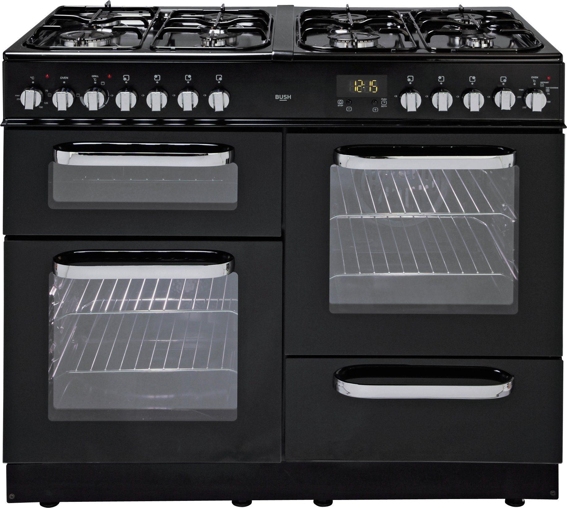Bush - BCL100DFB - Dual Fuel Range Cooker - Black/Ins/Del/Rec