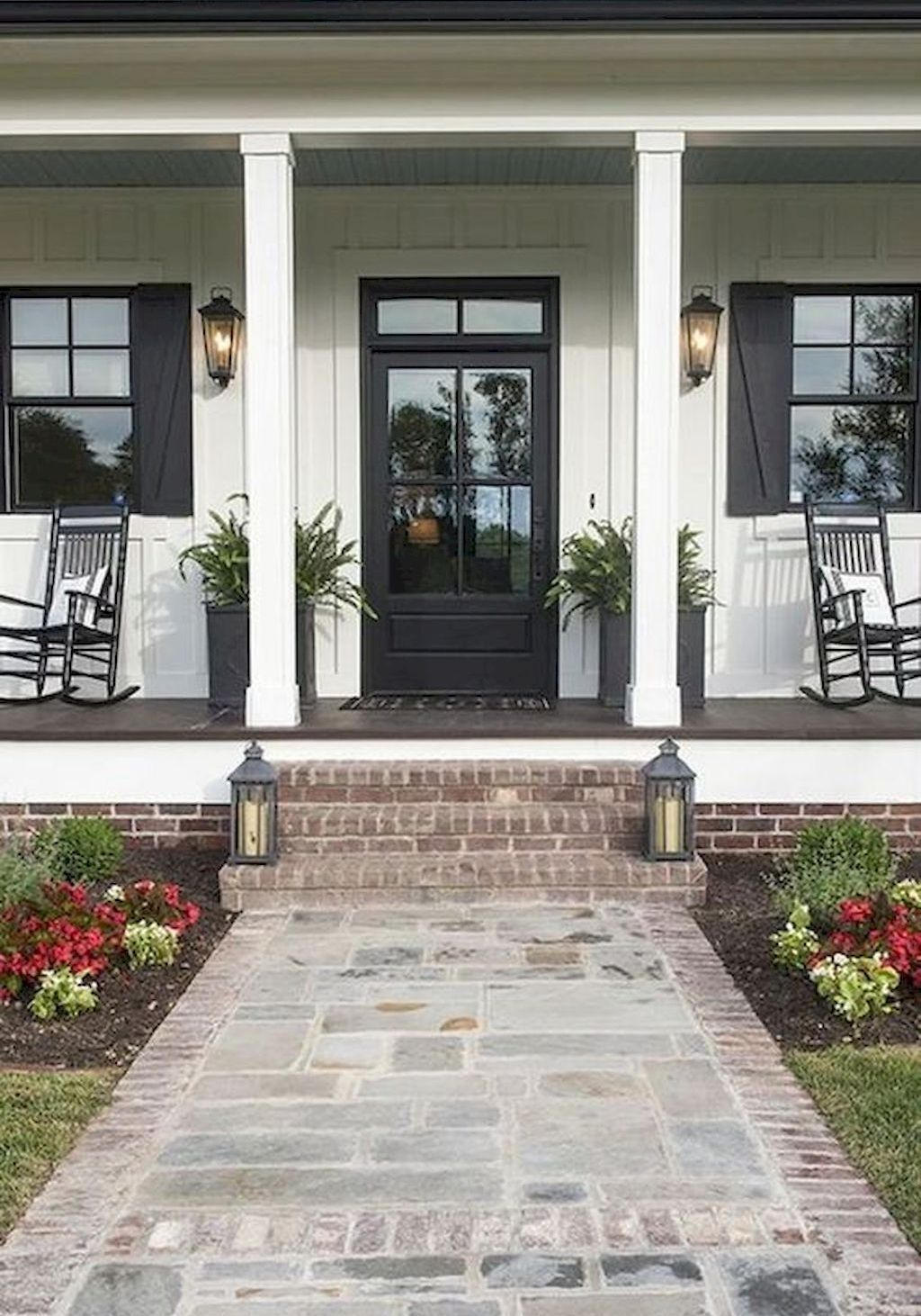60 beautiful rustic farmhouse front porches design and on beautiful modern farmhouse trending exterior design ideas id=77089