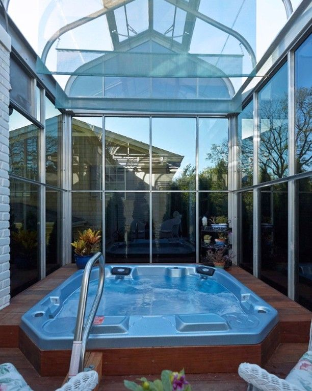Who is ready for summertime? #spa #outdoorspa #greenhouse ... on Outdoor Living Ltd  id=81849