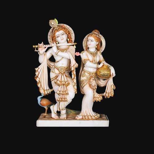 Marble Radha Krishna Statue Divine Marble Radha Krishna Statue