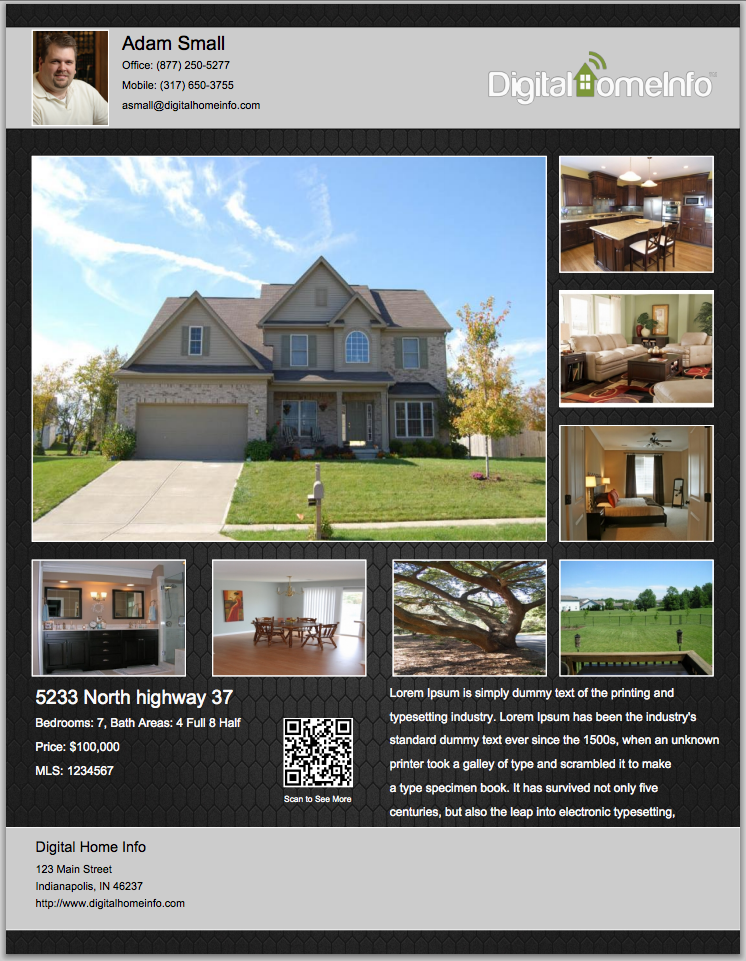 Real estate flyer ideas bing images flyer ideas for Real house