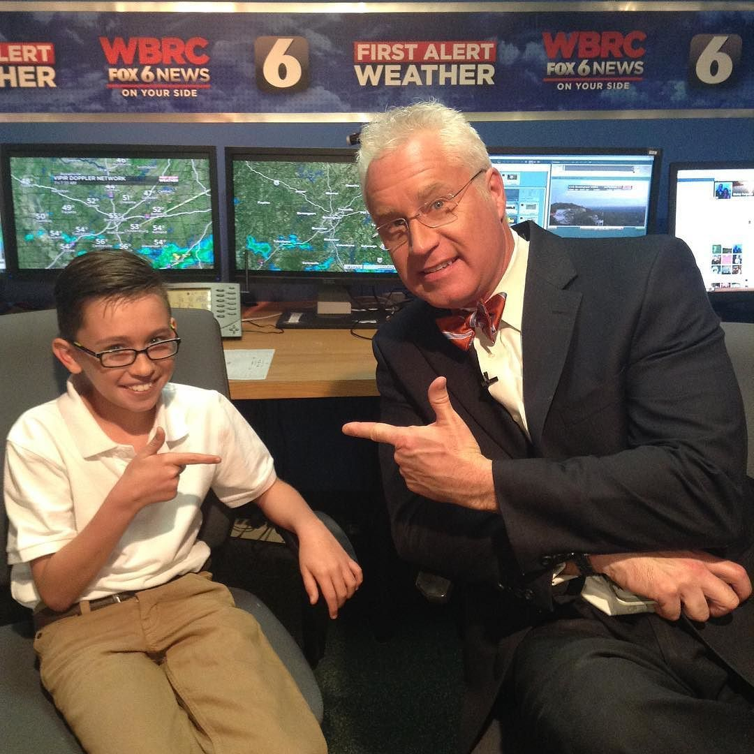 11-year-old Shane Wells helped Mickey out with the forecast
