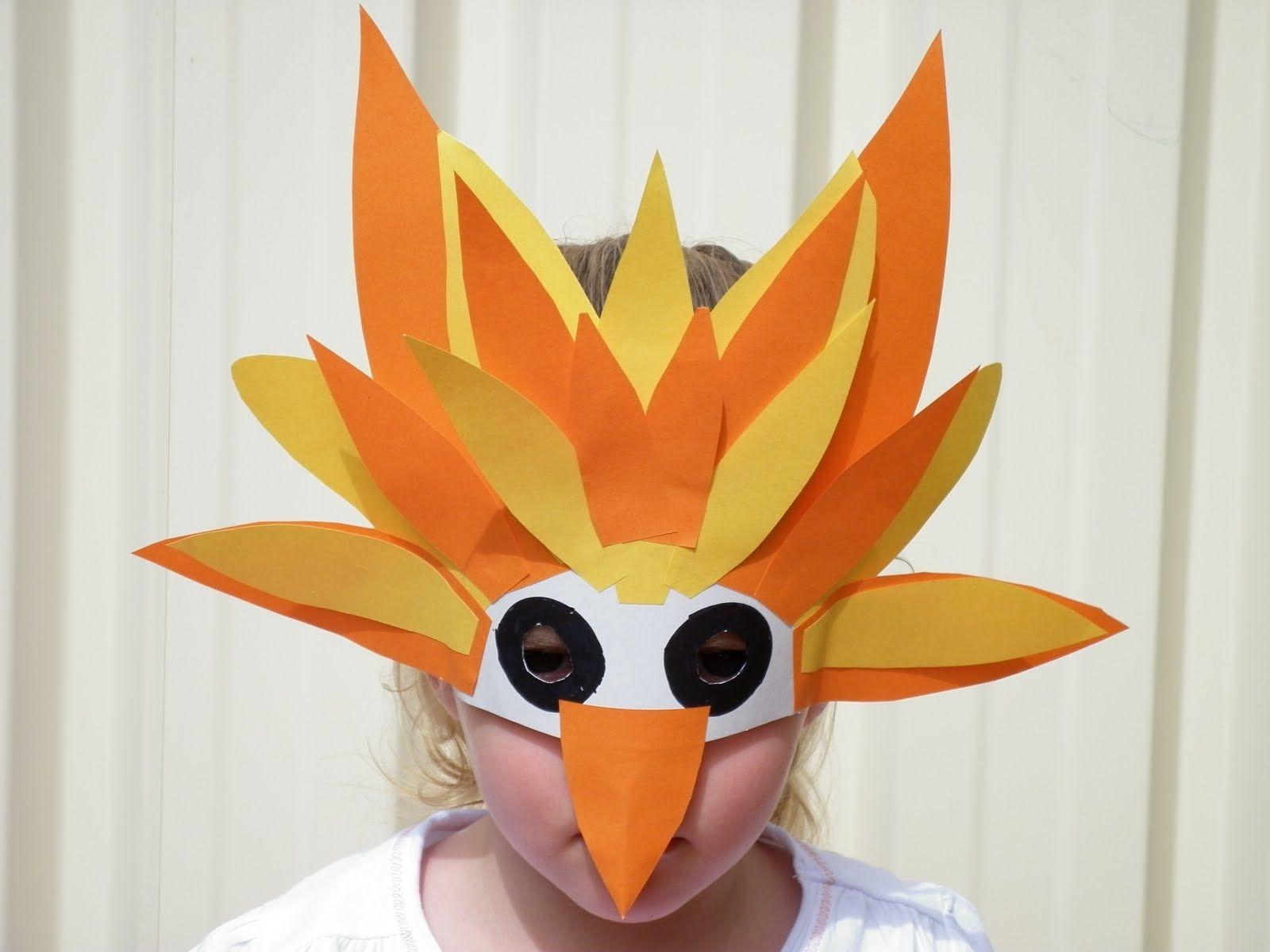 Paper Parrot Mask Bird Masks Carnival Crafts Mask For Kids