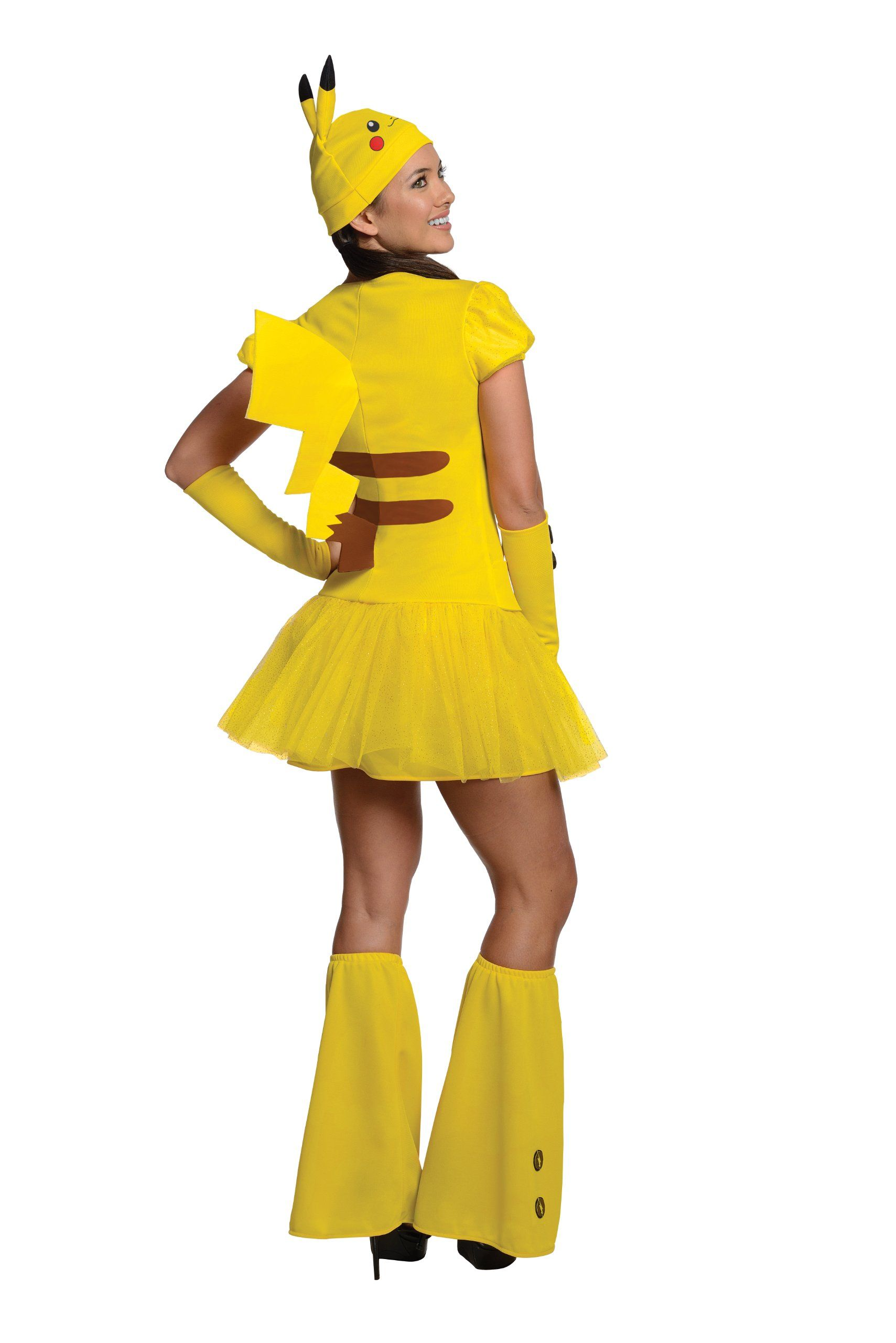 LICENSED PIKACHU ADULT POKEMON WOMENS FANCY DRESS HALLOWEEN COSTUME