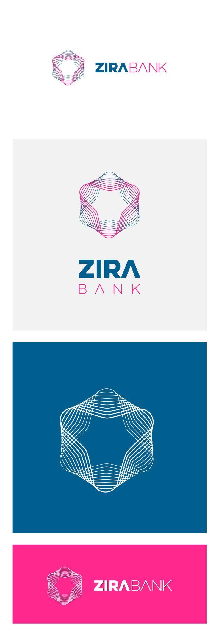 Zira Bank Logo, for Cryptocurrency concept mobile app (silverdesk.com)