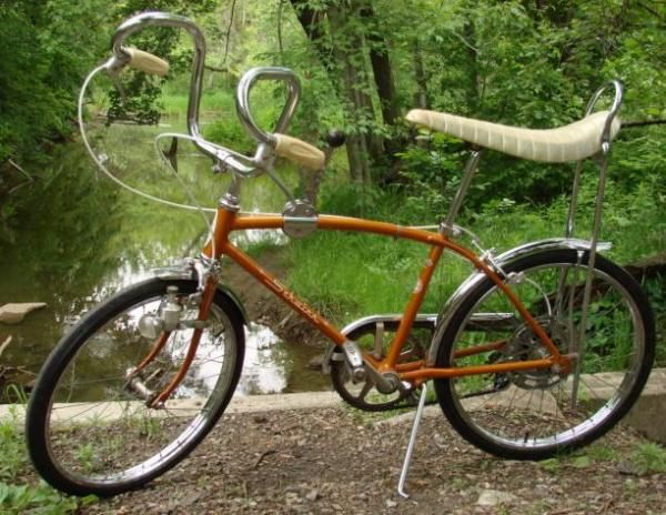 dce7365e6e4 Stingray Bicycle with Banana Seat, 1960s...Love those ram horn handlebars!