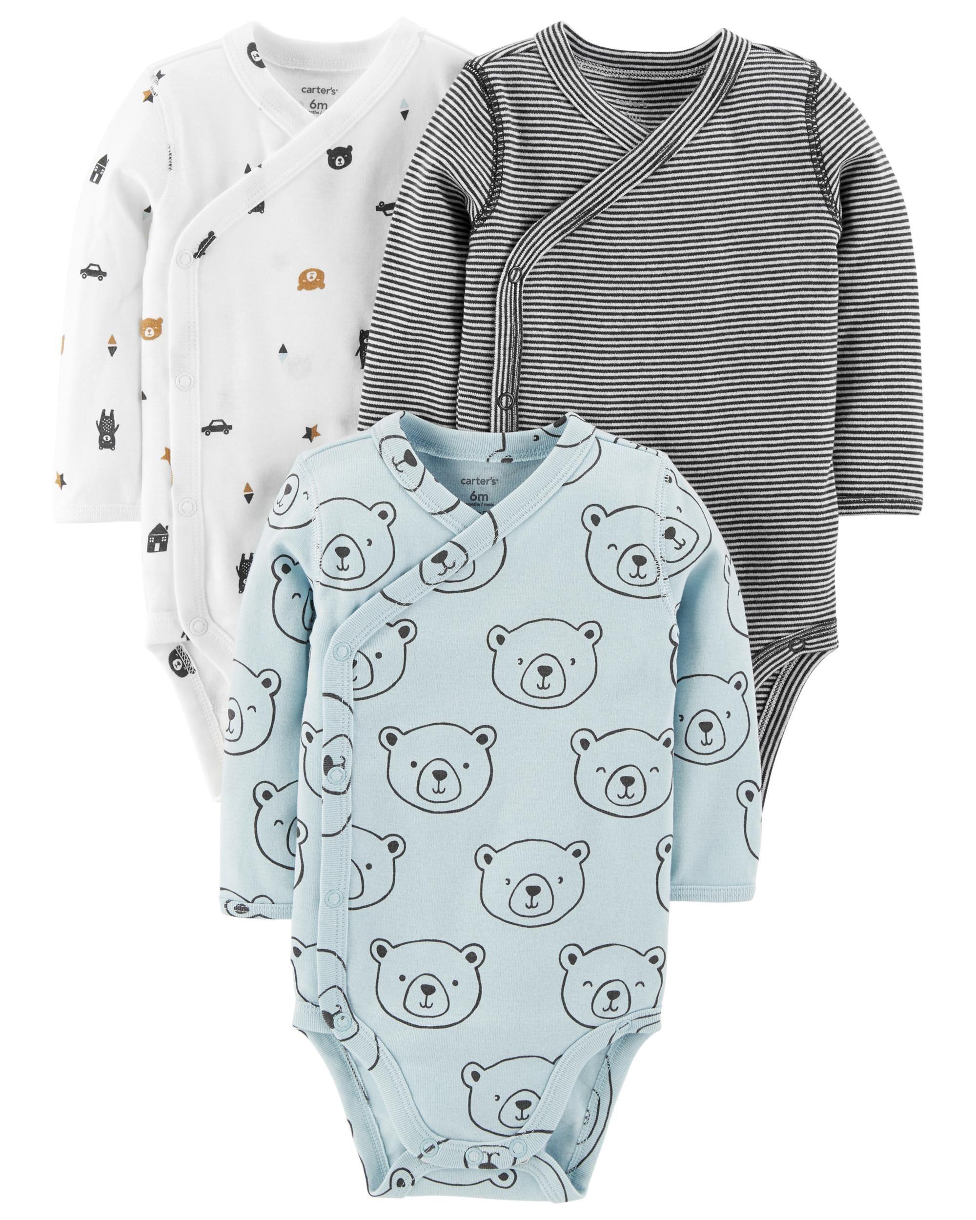 Carters Baby Boys 4-Pack Cotton Kimono Tees