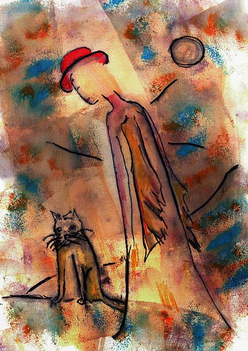 """Gouache on paper, """"All Will Be Well,"""" by Catalina Lira, Fine Art America."""