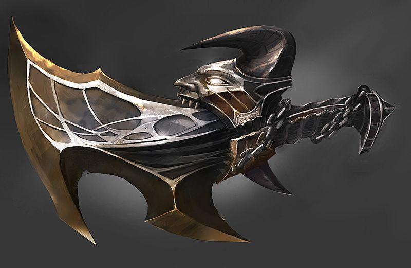 God Of War Exile Blade Com Imagens Arte Com Caveiras Facas E
