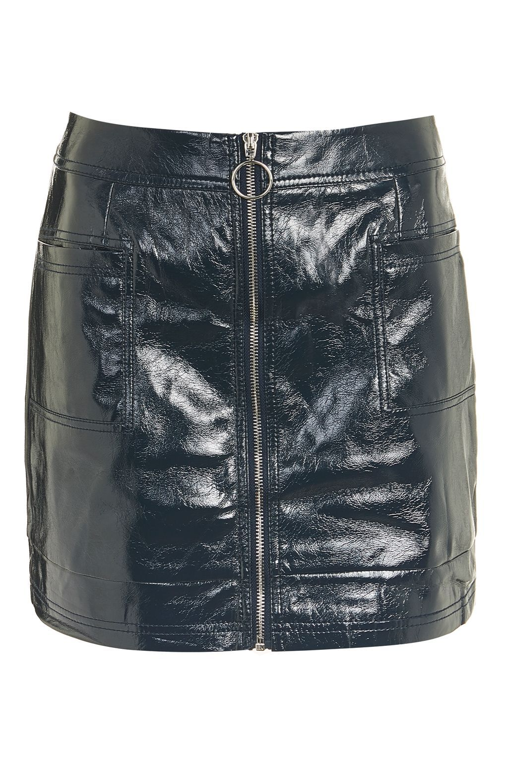 01ef8a86df Cracked Vinyl Zip Mini Skirt - New In Fashion - New In - Topshop Europe