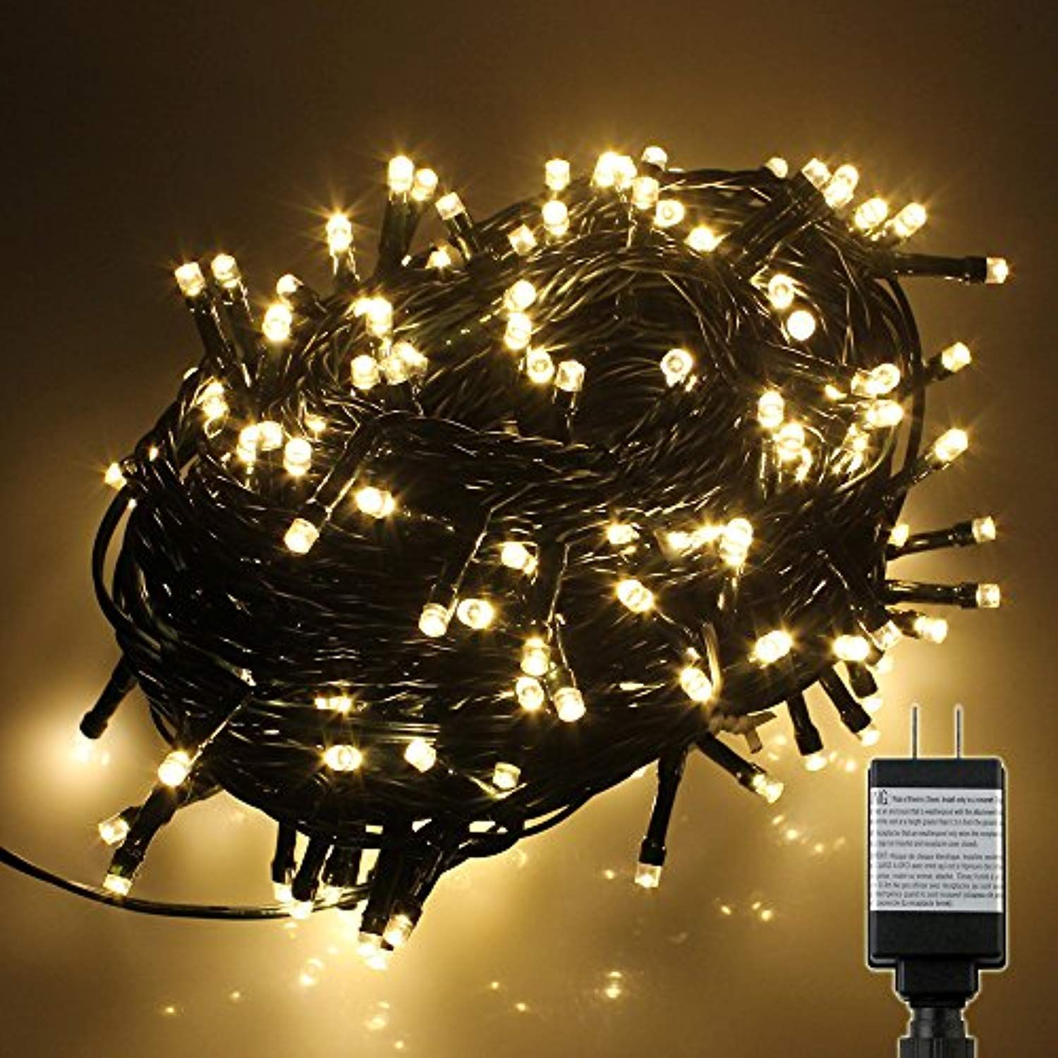 100 SAFE LOW VOLTAGE LED FAIRY LIGHTS WHITE OR COLOURED CHRISTMAS TREE WEDDING