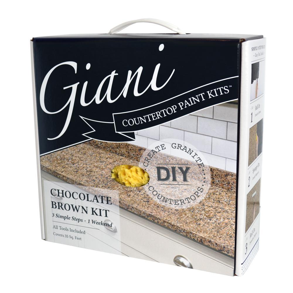 Giani Chocolate Brown Countertop Paint Kit Countertop Paint Kit
