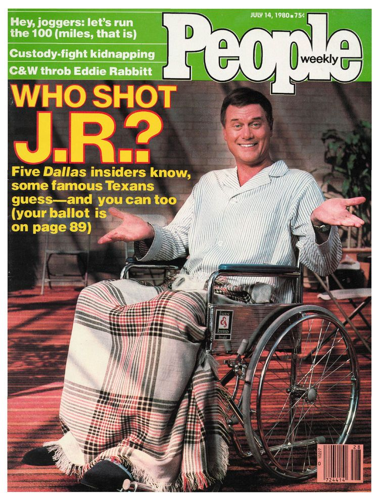 Larry Hagman on the cover of People Weekly (July 14, 1980)