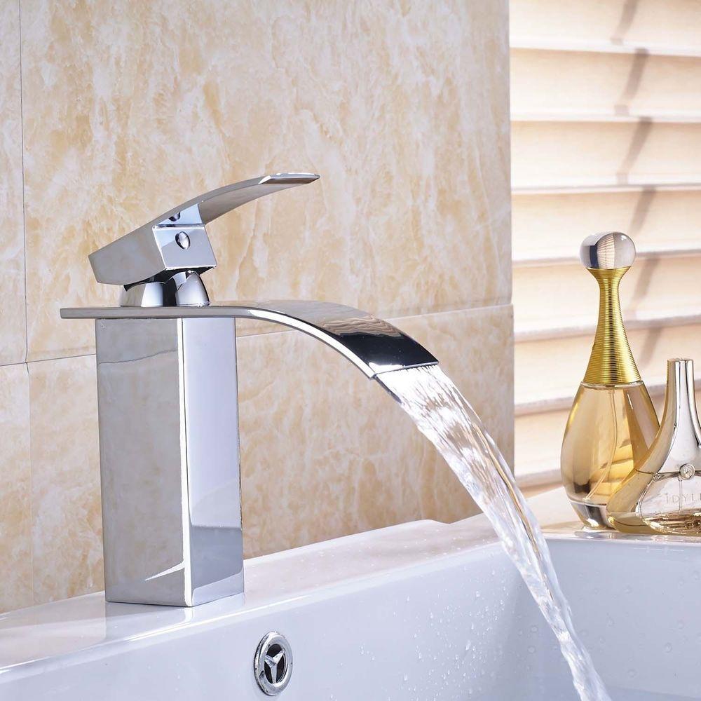 Type Bathroom Sink Faucet Single Handle Faucet Chrome Finish