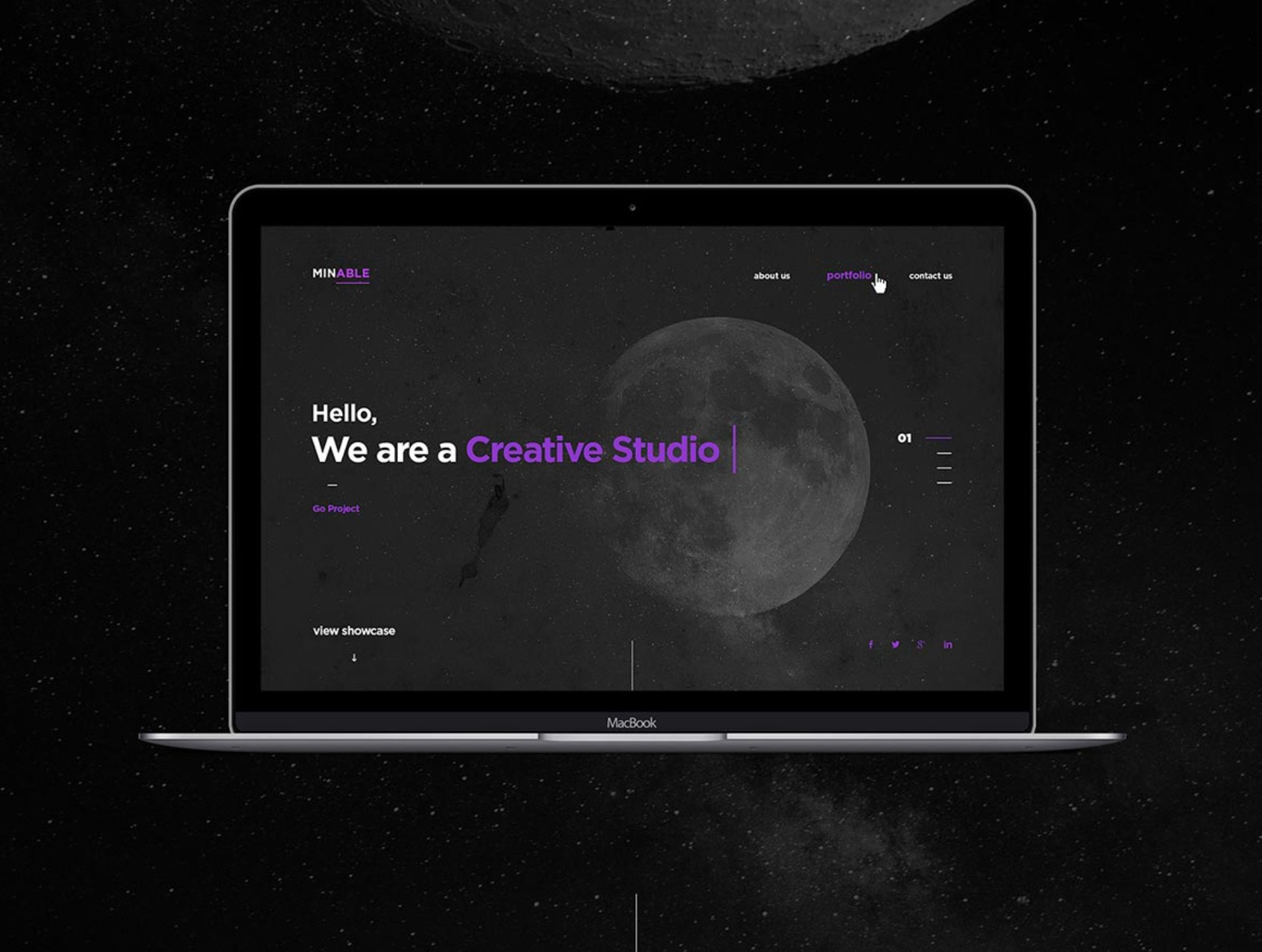 Minable Portfolio Template Free PSD Web Design Free