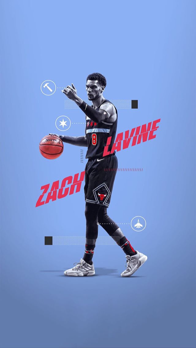 Pin By Perry Wang On Nba Zach Lavine Sports Graphic Design Nba Basketball Art