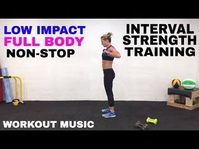 low impact full body workout cardio  weights total body