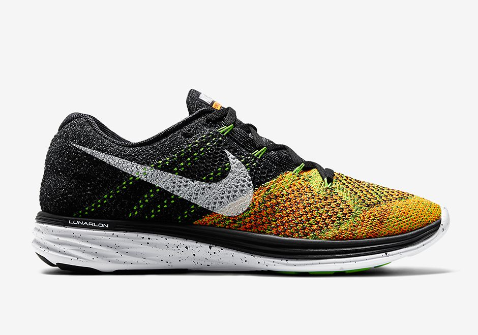 Nike Flyknit Lunar 3 - Black - Electric Green - Total Orange - SneakerNews. com